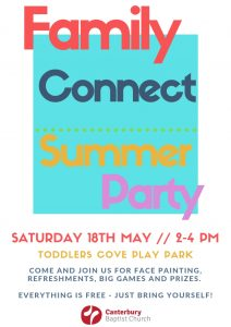 Family Connect Summer Party @ Toddler's Cove Play Park