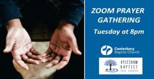 Zoom Prayer Gathering